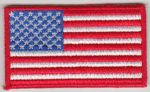 USA Embroidered Flag Patch, style 04.